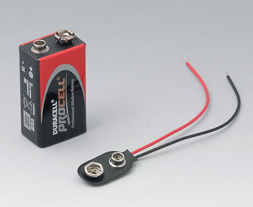 A9160003 Plug-in contact, 1 x 9 V (PP3)
