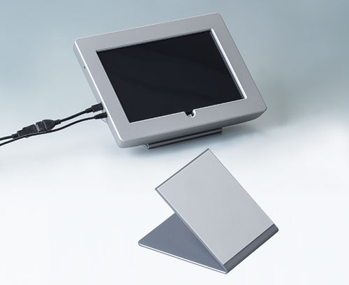 Installing a tablet plus tilt foot bar (INTERFACE-TERMINAL with aluminium front panel)
