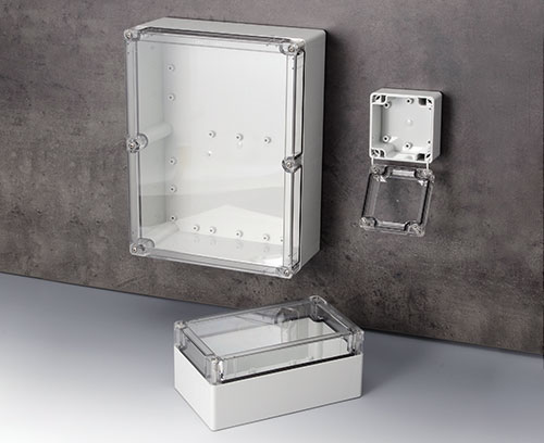 IN-BOX enclosure in PC with transparent top part