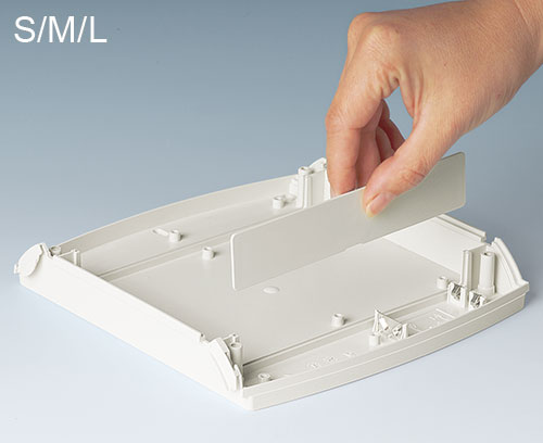 Slot-in panels for interior partitions (acc. S, M, L)