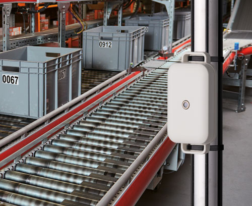 Example of an EASYTEC enclosure application with sensor in an industrial environment