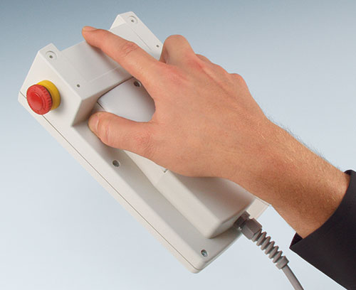 Ergonomic hand grip on underside, great to hold