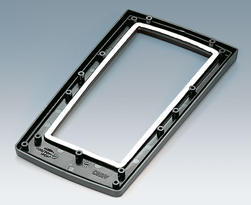 Top part for aluminium front panel assembly with sealing