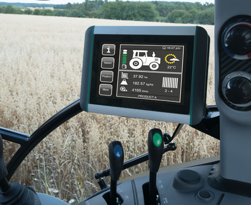 ISOBUS terminal for tractors and self-propelled machines