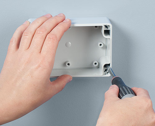 Direct wall mounting
