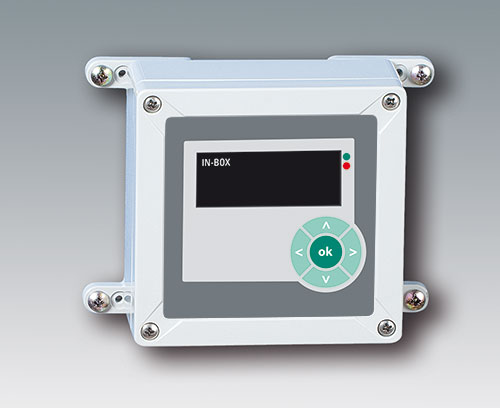 Recessed operating area for protecting a membrane keypad