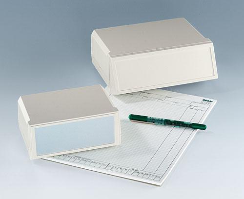 Modern desktop enclosures with wide interface panels