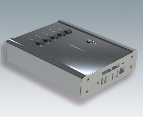 Aluminium end plate (ordered when specifying a SMART-TERMINAL enclosure from individual parts)