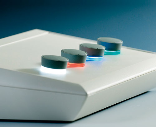 STAR-KNOBS surface-mounted with LED backlight
