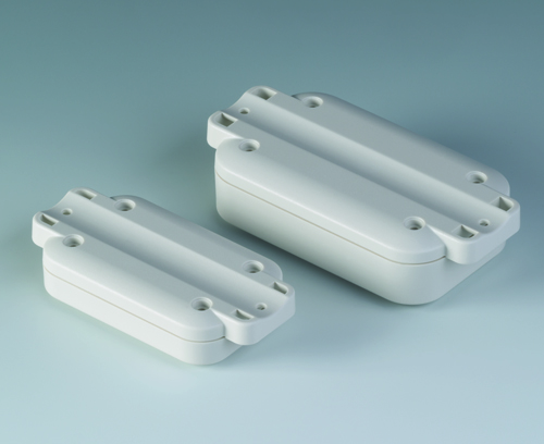 Rounded recess, ideal for mounting on pipes/round profiles